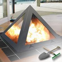 газовый камин для дачи