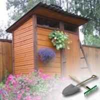 деревянный душ для дачи