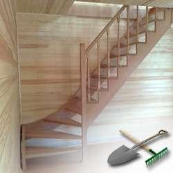 Изготавливаем лестницу на даче своими руками
