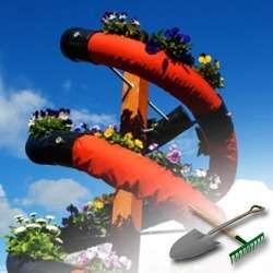 Актуальное и красивое новшество: спиралевидный цветник