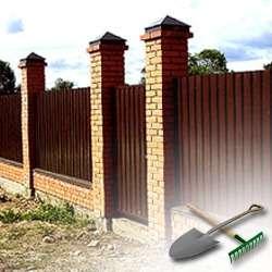 Как своими руками сделать на даче забор из профнастила?