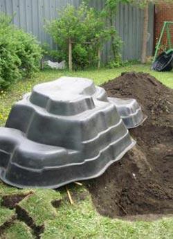 Пластиковые водоемы для дачи
